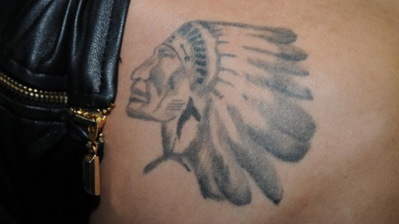 "Bieber reportedly tweeted ""This is for u Grampa"" when he unveiled this tattoo of a Native American in head dress in January 2013. It is believed to be the logo of a Canadian junior ice hockey team whose games the singer"