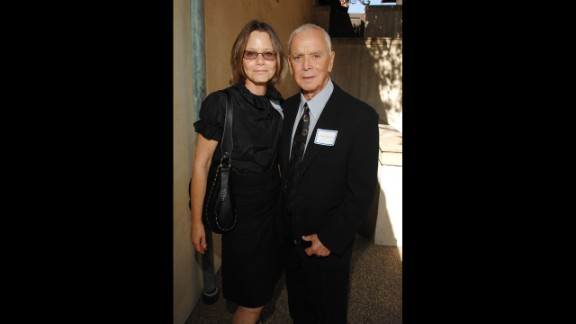 """Dey left """"L.A. Law"""" in 1992 and went on to guest on several TV series, most recently on a 2004 episode of """"Third Watch."""" She's seen here with her husband, producer Bernard Sofronski."""