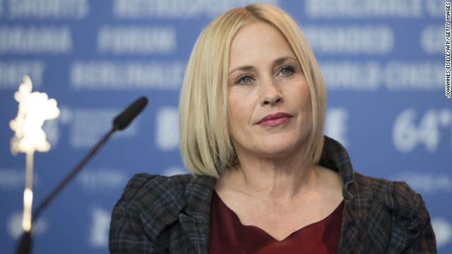 Patricia Arquette attends a press conference for the film 'Boyhood' presented at the 64th Berlinale Film Festival in Berlin, on February 13, 2014.