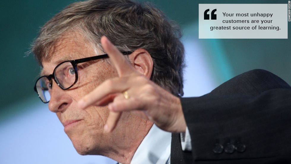 bill gates quote burn unhappy