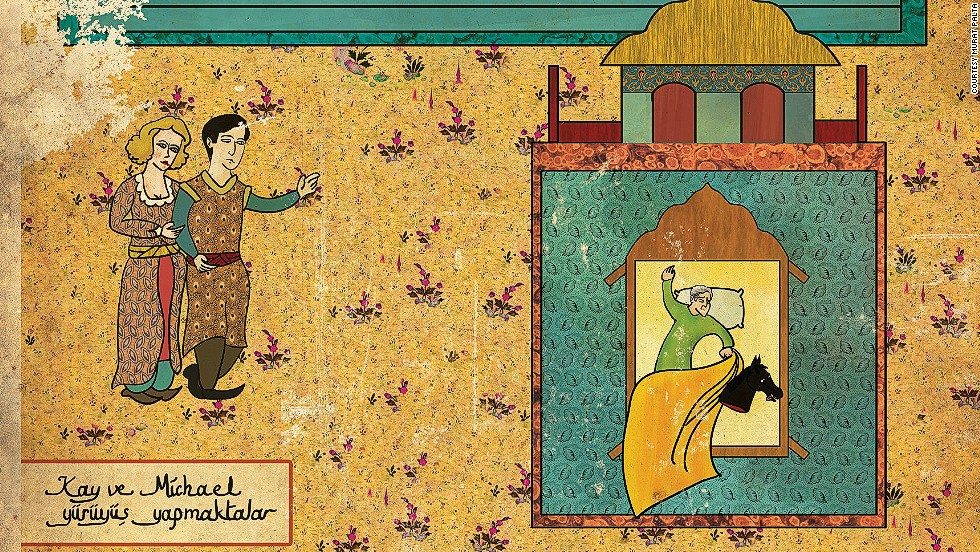 Palta has even given his work a weathered look, to mimic the style and age of Ottoman miniatures.