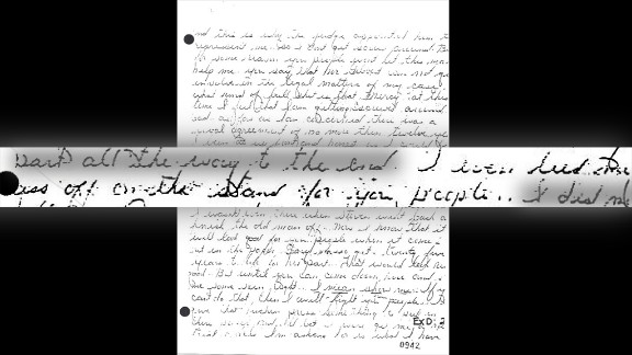 """Another letter uncovered during the investigation was written by Masse and dated April 21, 1986, which was after Killian's trial. According to the Ninth Circuit Court of Appeals, the letter reflects """"Masse's state of mind during his testimony. This letter states flatly: 'I gave you DeSantis and Killian. ... I even lied my ass off on the stand for you people.'"""" See Masse's handwritten letter and the official transcript of the letter."""