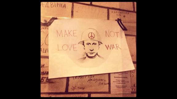 "KIEV, UKAINE:  ""Perhaps the best solution to end the crisis in Ukraine."" - CNN's Christian Streib on March 2.  Follow Ben on Instagram at instagram.com/bcwedeman."