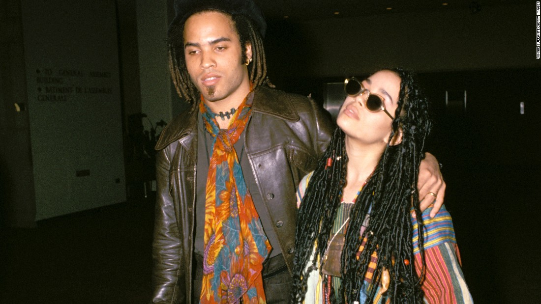 "Lenny Kravitz and former ""Cosby Show"" star Lisa Bonet seemed tailor-made for each other, right down to their love of hippie style. The pair met at a New Edition concert in 1985 and married in 1987, welcoming daughter Zoe a year later. ""We were very young, and it was wonderful,"" Kravitz recalled in 2013, 20 years after their marriage came to an end. Now, ""Zoe's mom and I are best friends,"" Kravitz said. ""It's interesting because that's how the relationship started."" Bonet is now married to actor Jason Momoa."