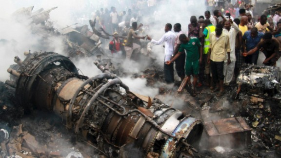 A Dana Air MD-83 carrying 153 people crashed on June 3, 2012, in a residential neighborhood in Lagos, Nigeria