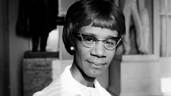 """U.S. Rep. Shirley Chisholm of New York was the <a href=""""http://www.pbs.org/pov/chisholm/film_description.php"""" target=""""_blank"""" target=""""_blank"""">first black woman to be elected to Congress</a> and run for the presidency."""