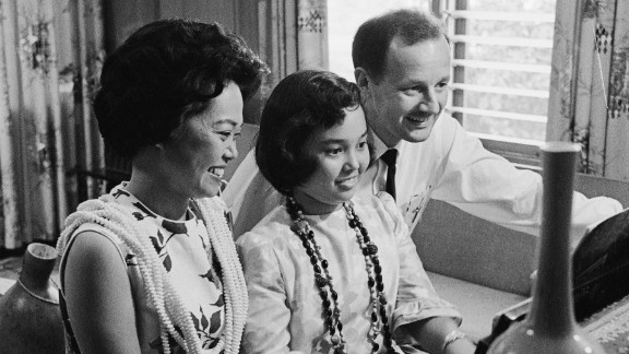 U.S. Rep. Patsy Mink, here with her husband John, and daughter, served 24 years in Congress. The Hawaii Democrat co-authored Title IX, the women's educational equity act.