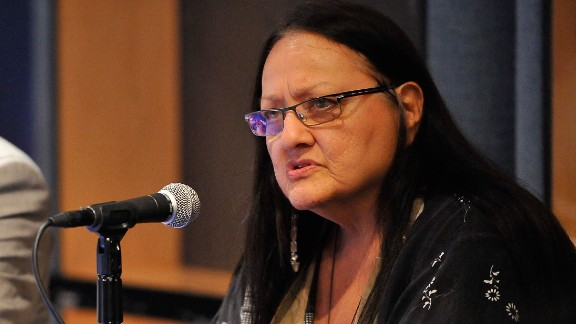 """Suzan Shown Harjo is an <a href=""""http://www.theguardian.com/commentisfree/2013/jan/17/washington-redskins-racism-pro-football"""" target=""""_blank"""" target=""""_blank"""">advocate for Native American rights</a> who has been a leader in the effort to <a href=""""http://www.nytimes.com/2013/10/10/sports/football/redskins-name-change-remains-her-unfinished-business.html?_r=0"""" target=""""_blank"""" target=""""_blank"""">remove derogatory names from sports teams</a>, including Washington Redskins football team."""