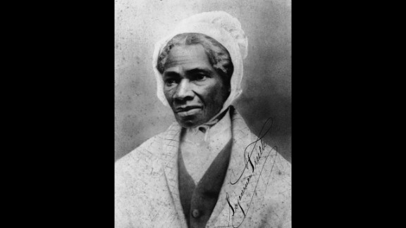 """Orator and civil rights activist Sojourner Truth was born into slavery and could not read nor write, but her words have endured. Most famously, she declared """"<a href=""""https://www.cnn.com/2014/03/11/living/gallery/womens-herstory/in%201851"""" target=""""_blank"""">Ain't I a woman?</a>"""" at a women's rights convention in Akron, Ohio, in 1851."""