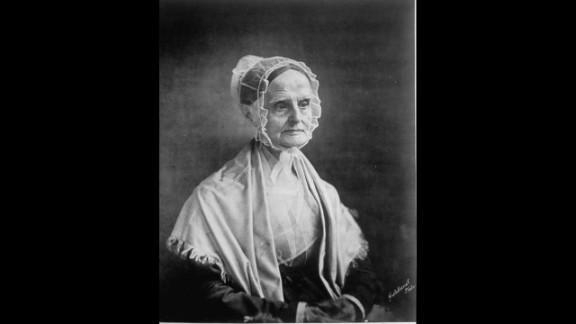 """Lucretia Mott was a Quaker abolitionist who<a href=""""http://www.nps.gov/wori/historyculture/lucretia-mott.htm"""" target=""""_blank"""" target=""""_blank""""> founded the Philadelphia Female Anti-Slavery Society in 1833</a> after she was excluded from some all-male abolitionist meetings. She later became the first president of the American Equal Rights Association,<strong> </strong>whose mission was to grant equality for blacks and women."""