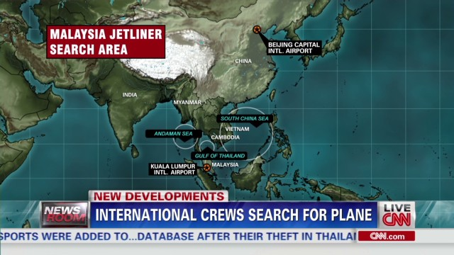 International crews search for plane