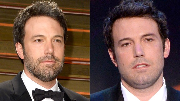 Ben Affleck is bearded at the 2014 Oscars and beard-free at the 2014 Screen Actors Guild Awards in January.