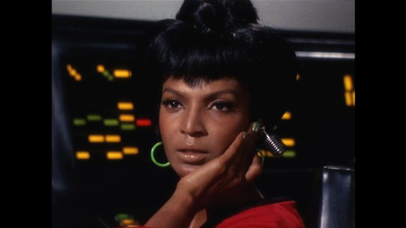 """She inspired everyone from the Rev. Martin Luther King Jr. to Mae Jemison, the first African-American woman in space. Actress Nichelle Nichols' portrayal of Lt. Uhura on """"Star Trek"""" showed that women and people of color belonged to the future."""