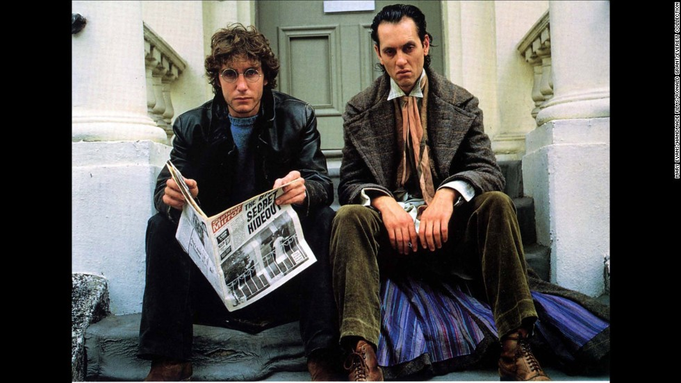 "Paul McGann's character is best friends with Richard E. Grants' outrageous alcoholic in the 1987 British film ""Withnail and I."""