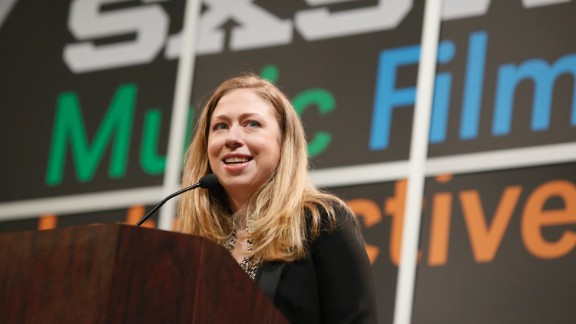 Chelsea Clinton gives the keynote during the SXSW Interactive for Harnessing the Power of Tech and Data for Development on Tuesday, March 11, 2014, in Austin, Texas. (Photo by Jack Plunkett/Invision/AP)