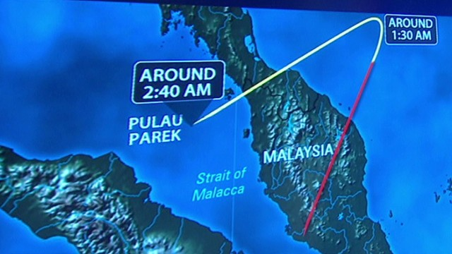Virtual look at Flight 370's route