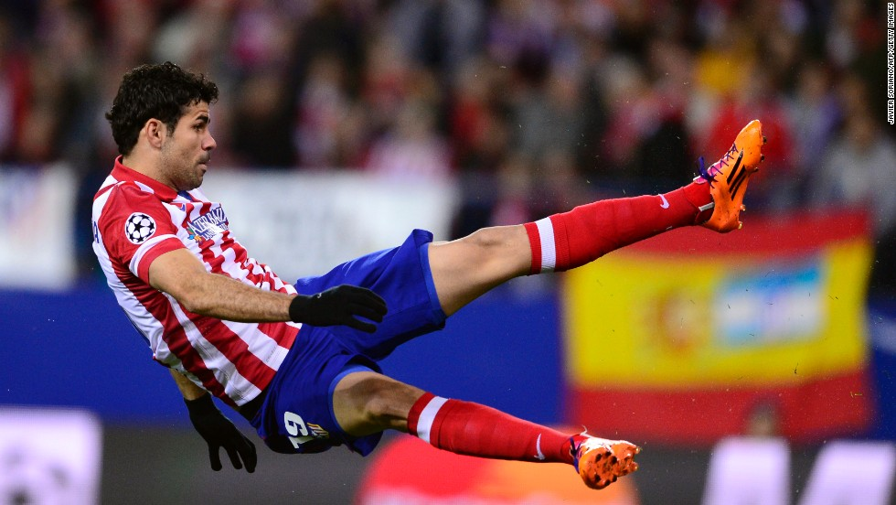Diego Costa gave Atletico Madrid a third minute lead in its clash against AC Milan. Costa, who scored the only goal of the game in the first leg, gave his side the perfect start with a fine finish.