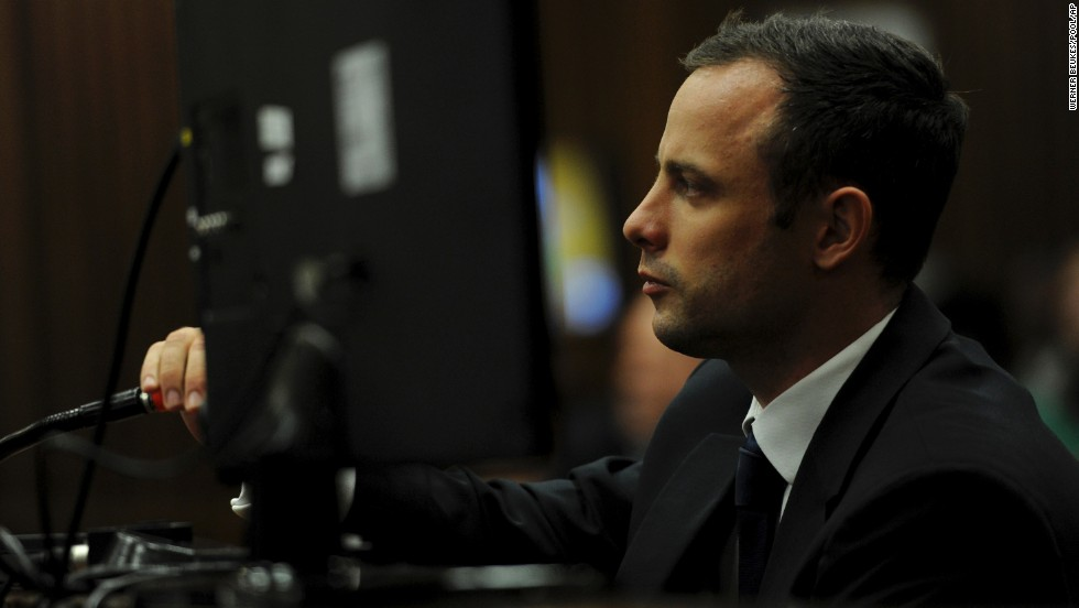 Pistorius listens to questions during his trial on Wednesday, March 12.