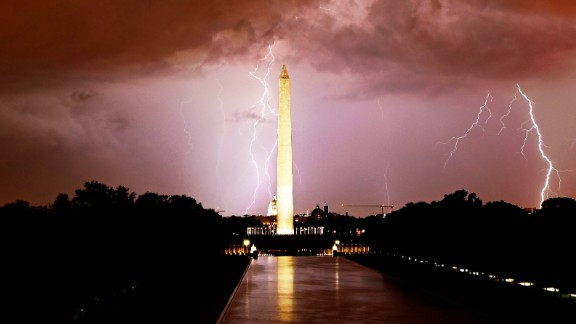 Aspiring photographer Kevin Wolf captured a photo of a lightning storm in Washington in September 2012. He says he caught this photo by keeping the shutter of his camera open for 60 seconds.