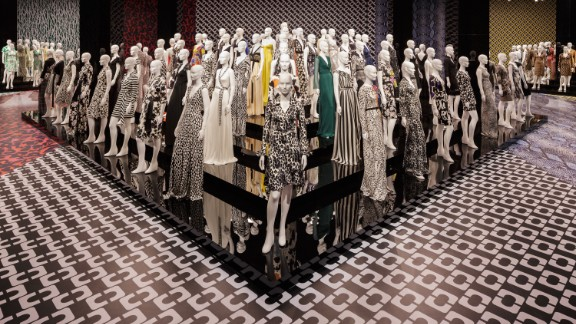 """The """"Journey of a Dress"""" exhibition is on display in the Wilshire May Company Building in Los Angeles. This year marks  the 40th anniversary of the design."""