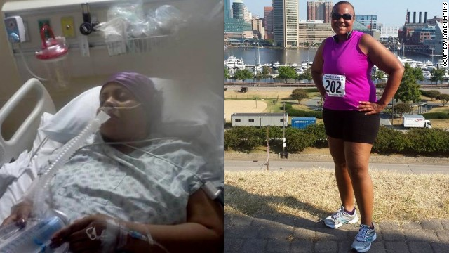 "After two hip replacement surgeries, Karen Manns says, ""I knew I had to get myself together and beat this demon."""