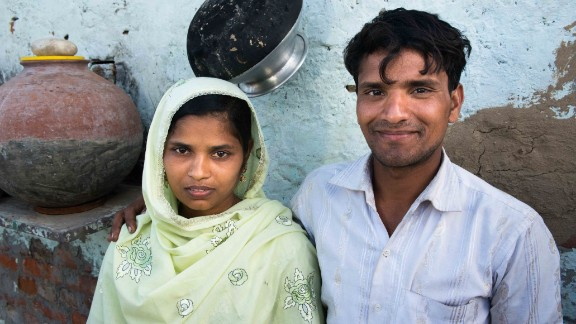 Tasleema, born in Kolkata, is one of the women who was trafficked. Her husband, Salim, who resides in Haryana state, doesn't deny paying agents to find him a bride. He says it's almost impossible for poor people like him to find a bride in his village.