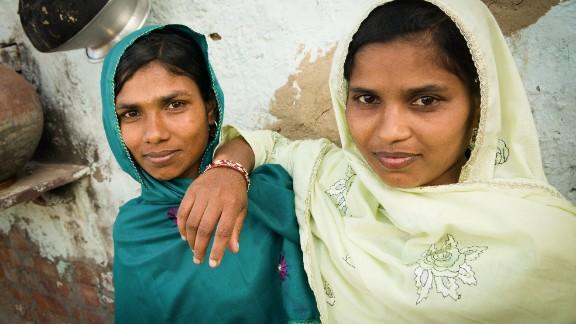Akhleema and Tasleema, two sisters from Kolkata in eastern India, were sold as brides in Haryana state, in western India.