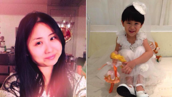 Missing 370 passenger Huang Yi and her 5-year-old daughter