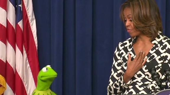 Inside Politics Kermit Prefers Michelle Obama Newday _00000812.jpg