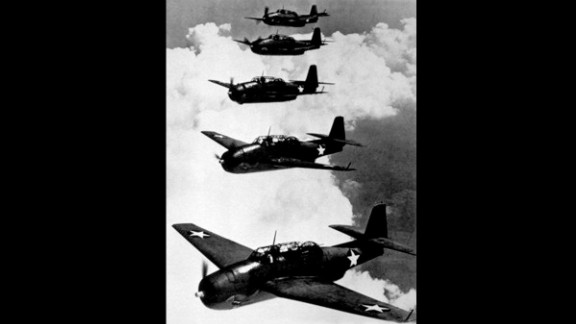 A group of U.S. Navy Avenger planes, like the ones seen here in 1943, disappeared off the coast of southern Florida in December 1945. The planes were carrying 14 men. Thirteen more servicemen also vanished when they went to search for the missing fliers. That started the legend of the Bermuda Triangle. Other mysterious disappearances over the years have been linked to the Triangle, which is anchored by Bermuda, Florida and Puerto Rico.