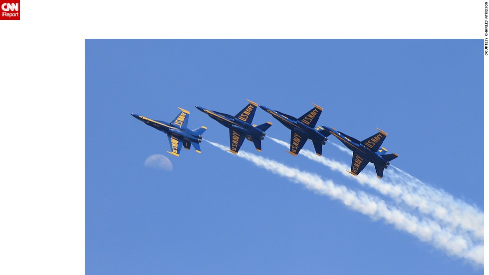 "Aerospace journalist <a href=""http://ireport.cnn.com/docs/DOC-1041915"">Charles Atkeison </a>says the team's blue and gold jets are a familiar sight and sound along the northern Gulf Coast beaches, near their home at the Naval Air Station Pensacola, Florida."