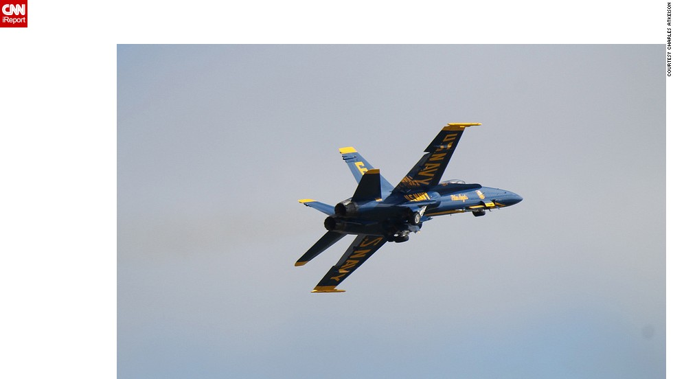 """A typical week may find all six Blue Angels in flight as they practice flying wing tip to wing tip, just 18 inches apart,"" he said."