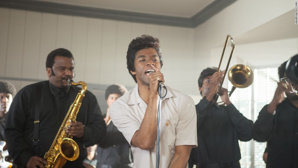 "The sizzling performance of Chadwick Boseman, center, as James Brown wasn't enough to make <strong>""Get on Up"" </strong>into a hit. It's grossed $29 million on a $30 million budget."
