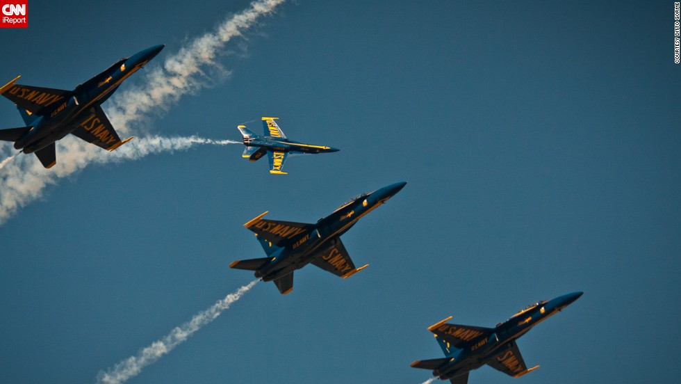 Gorme plans to be watching the Blue Angels for their 2014 opening show.