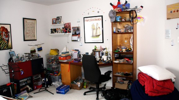 """Brockett said that her son's room started with a sailboat theme back in 2006. """"Since then, he has added and added and added some more."""""""