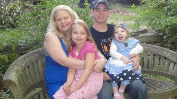 Linzey and her husband, Brian, live in Wallingford, Pennsylvania, with their two daughters, Elyse, right, and Anabelle, left. Anabelle, who is 3, was born with the neurological disorders lissencephaly and microcephaly.