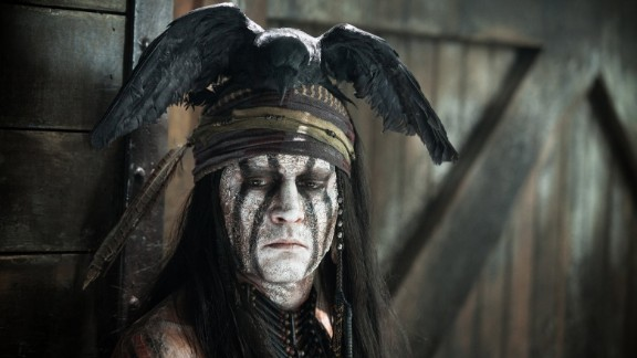 "Johnny Depp played Native American sidekick Tonto in the 2013 film  ""The Lone Ranger."" He was criticized as soon as the image appeared."