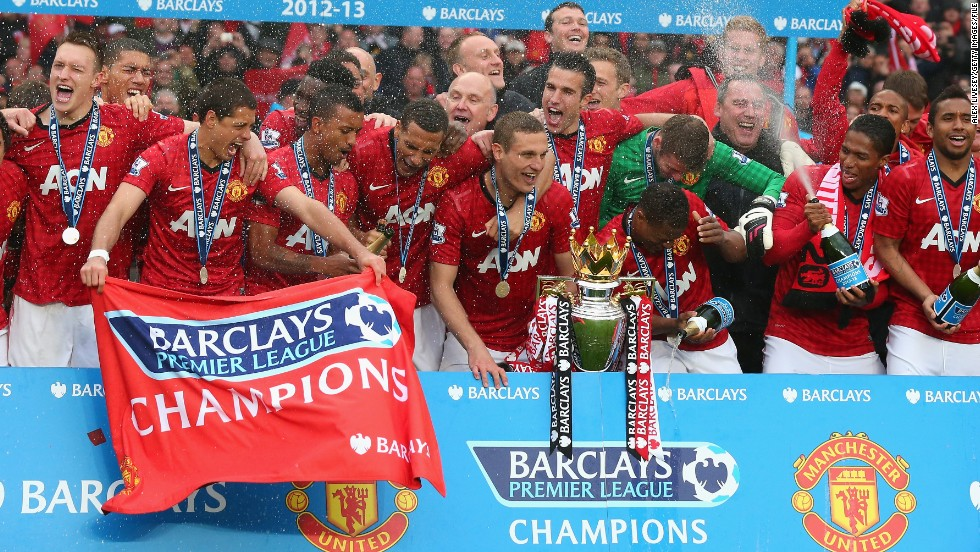 United's current predicament is a far cry from last May, when the club won its 20th English title under the guidance of the departing Ferguson.