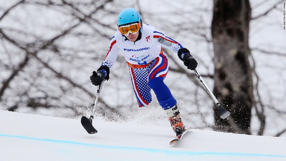 Russian skier Inga Medvedeva competes on March 14.