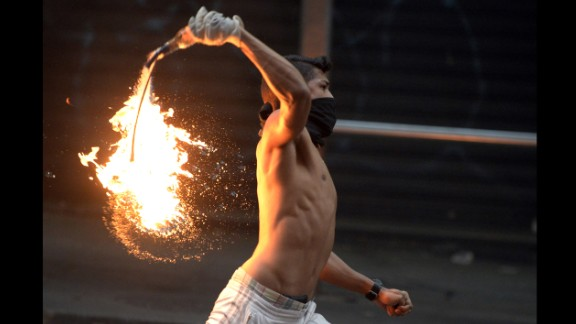 Violent protests have continued in Caracas for weeks.