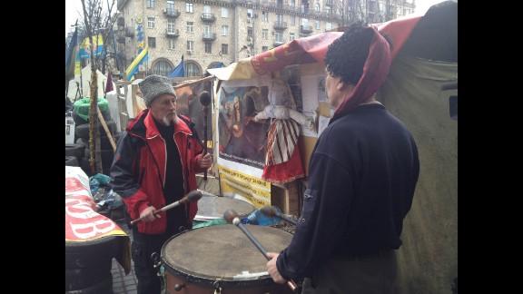 "KIEV, UKRAINE:  ""The mood was grim in Kyiv's Maydan (March 16), as a mustachioed Ukrainian Cossack beat a kettle drum during the separatist referendum in Crimea."" - CNN's Ivan Watson.   WATCH THE INSTAGRAM VIDEO   Follow Ivan on Instagram at instagram.com/ivancnn."