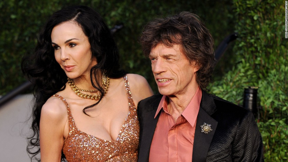 A spokesman for Mick Jagger said the singer was completely shocked and devastated by the news. The couple had been dating since at least 2003.