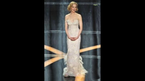 Actress Nicole Kidman, in a L