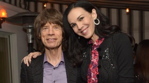 Singer Mick Jagger and fashion designer L