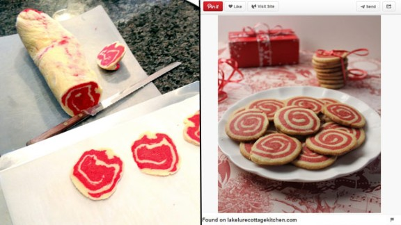 """Pinterest fail: Brockett was inspired by a Pinterest photo to make cinnamon pinwheel cookies for the holidays one year. """"Unfortunately, ours looked looked more like a slab of meat,"""" she said. """"Even when sliced, the cookies looked more like they belonged in an Italian deli rather than on a plate."""""""
