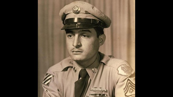 Master Sgt. Juan E. Negron distinguished himself on April 28, 1951, near Kalmaeri, Korea, where he refused to leave his post after learning enemy forces had broken through a roadblock and were advancing. He held his post throughout the night, hurling grenades and laying down fire to halt the enemy attack. He held the position until an allied counterattack was organized and launched.