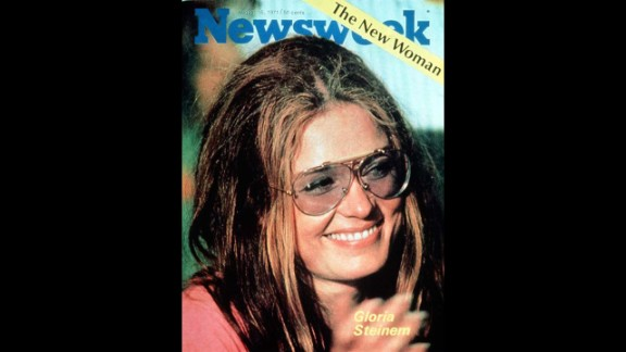 """Steinem is featured as """"The New Woman"""" on the cover of Newsweek in 1971. She was increasingly seen as the spokeswoman of the women's movement, although the headline to the story inside -- """" A Liberated Woman Despite Beauty, Chic and Success"""" -- showed there was still a long way to go."""