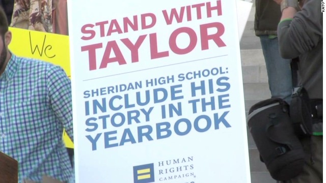 Community rallies around gay student