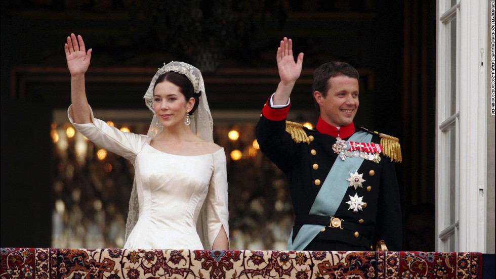 Prince Frederik and Mary Donaldson married in Copenhagen, Denmark on May 14, 2004.