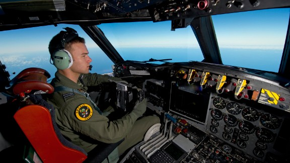 Royal Australian Air Force pilot, Flight Lieutenant Russell Adams from No. 10 Squadron, steers his AP-3C Orion over the Southern Indian Ocean during the search for missing Malaysian Airlines flight MH370.              A Royal Australian Air Force (RAAF) AP-3C Orion maritime patrol aircraft from No. 10 Squadron, No. 92 Wing conducted a search operation for missing Malaysia Airlines Flight MH370 in the southern Indian Ocean on 19 March 2014. The Australian Maritime Safety Authority-led search is supported by four RAAF AP-3C Orion maritime patrol aircraft along with a Royal New Zealand Air Force P-3K2 Orion aircraft and a United States Navy P-8 Poseidon maritime patrol aircraft operating from RAAF Base Pearce and Perth. With these aircraft, search and rescue operations are able to be conducted continuously throughout daylight hours. The RAAF AP-3C Orion completed two of the four search flights flown today and another four sorties will be flown tomorrow. The RAAF AP-3C Orion maritime patrol aircraft is responsible for conducting long-range surveillance missions within the southern search corridor.